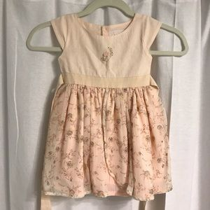 Well Dressed Wolf Pale Pink/Peach Dress, Sz 24 Mo